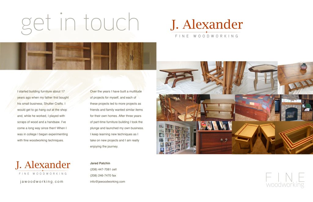 The Inside Pages Talk About The Designing And Construction Of Custom  Furniture ...