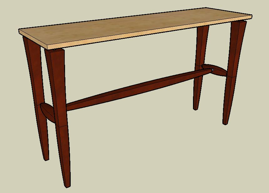 Here is a hall table we designed to be included in the same furniture line   By designing this piece in Sketchup  we were able to play with the width  and. Using Google s SketchUp with Woodworking   Custom Furniture and