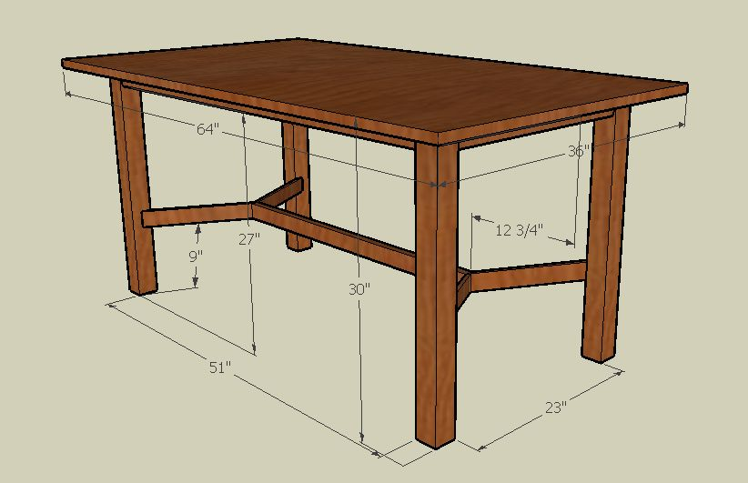 Dining Table for 8 Dimensions