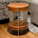 End Table - Rosewood & Aluminum