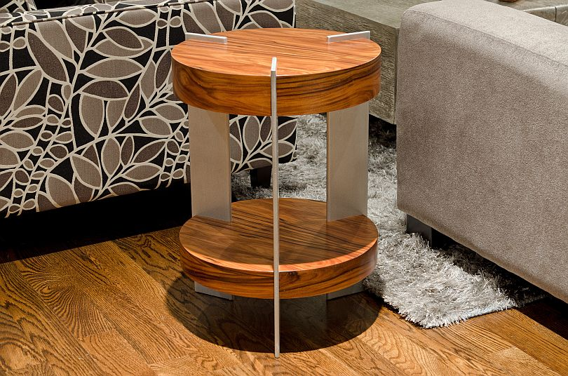 End Table   Rosewood U0026 Aluminum