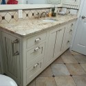 Inset Face Frame Vanity - Painted & Glazed