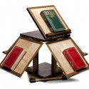 Jeffersonian Revolving Book Stand - Walnut, MapleBehind-The-Scenes