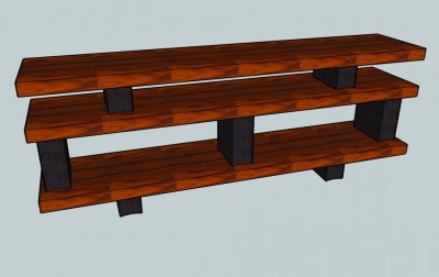 Rosewood Console Table 1