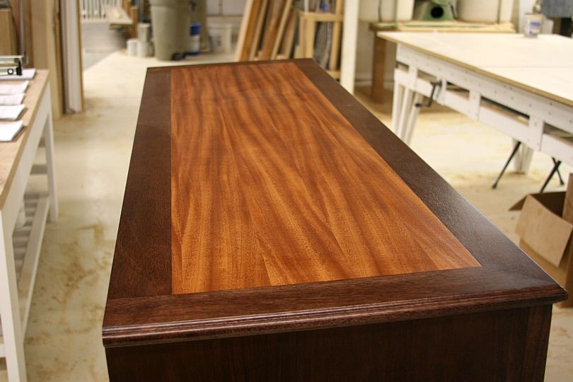 After Staining The Border And Adding Another Coat Of Sealer A Top Catalyzed Lacquer This Is What Looked Like