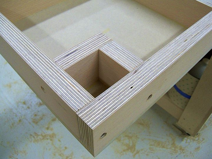Here Is A Close Up Of The 2 X2 Pocket That Will Accept Tenon On Leg All Joints Were Glued And Ed Together