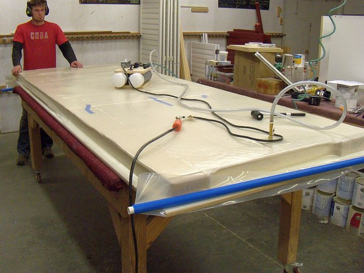 Popular After the legs were pleted we turned out attention to veneering the table top We used one full sheet of ux u ash veneer to cover the top