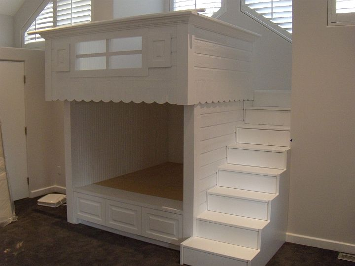 Stair Box In Bedroom: Custom Furniture And Cabinetry In