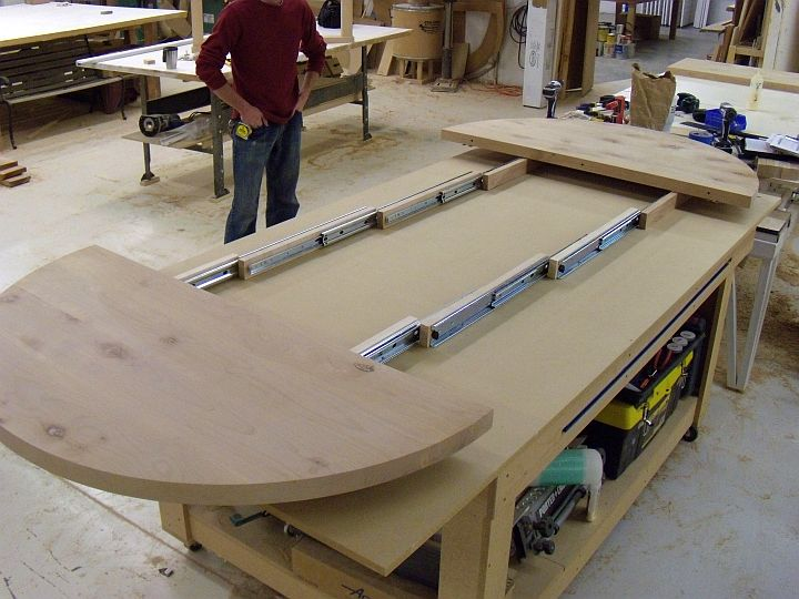 Metal Table Leaf Slides Brokeasshome Com